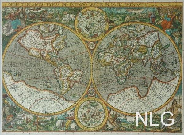 Wereldkaart Anno 1807
